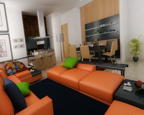 ghe sofa phong khach mo   Xu hướng thiết thế nội thất phòng khách đẹp cho năm 2013